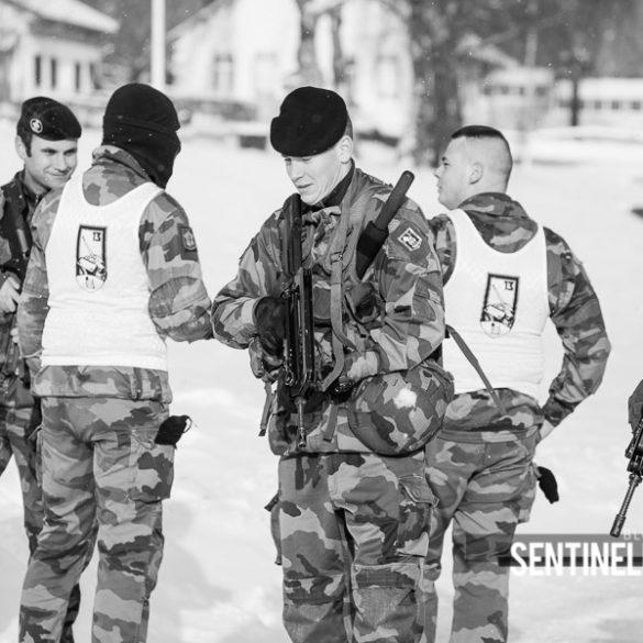 Entraînement de militaires avant l'opération Sentinelle